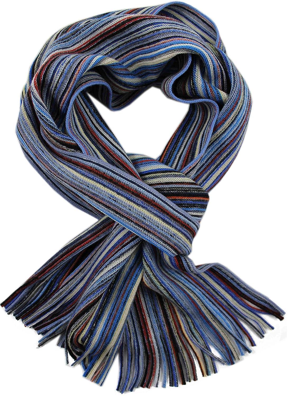Merino Rotfuchs Strickschal Raschelschal Streifen modisch blau bunt 100/% Wolle