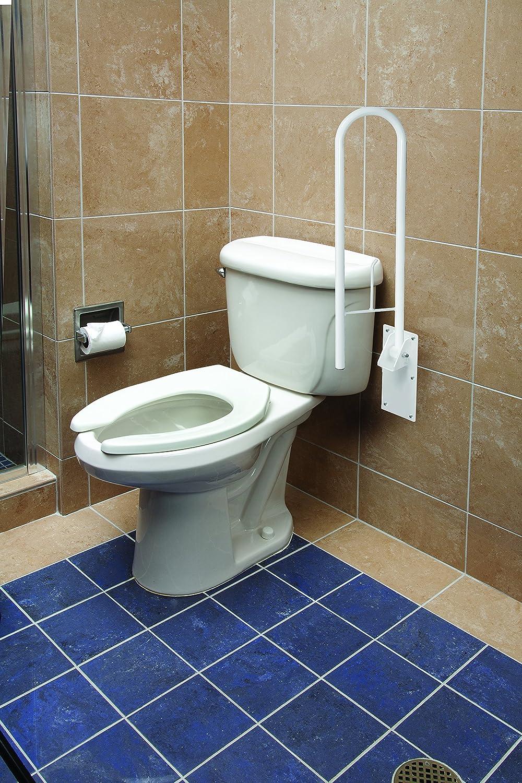 Amazon.com: HealthSmart Fold Away Grab Bar Handrail Shower Safety ...