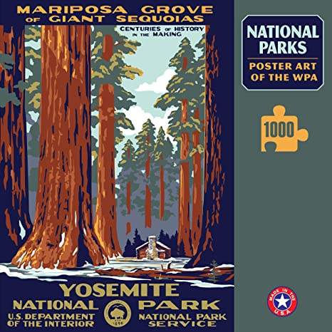 amazon com yosemite national park 1000 jigzaw puzzle game poster