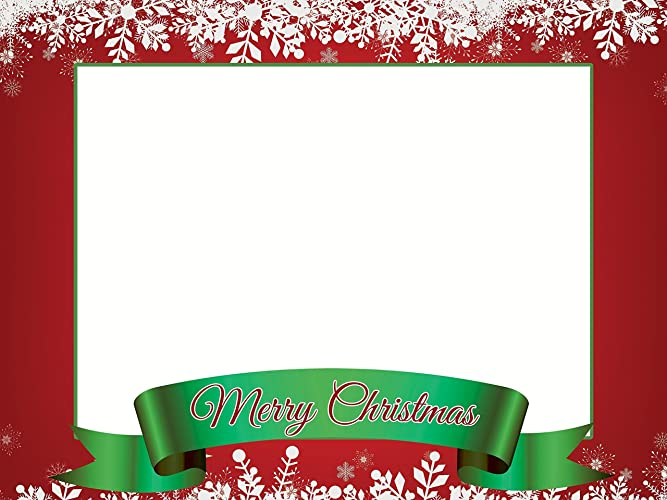 Amazon.com: Large Custom Merry Christmas photo booth frame prop ...