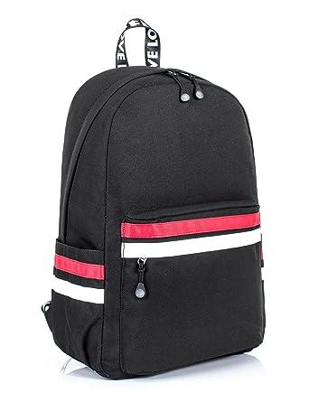 73800635df Leaper Laptop Backpack Travel Bag School Bag Daypack 15.6-Inch Black1 8110