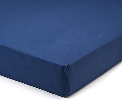 Fleuresse 1212 Fb. 6561 - Sábana bajera ajustable 100 x 200cm, color azul