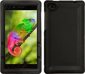 BobjGear Bobj Rugged Tablet Case for Lenovo Tab 7 Essential (TB-7304F) (TB-7304I) (TB-7304X) - BobjBounces Kid Friendly (Bold Black)