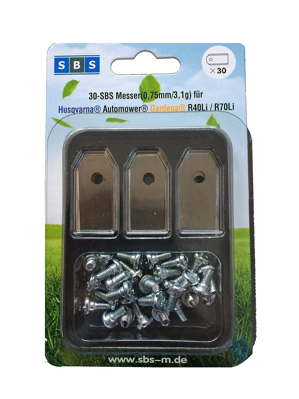 SBS ® Cuchillas de repuesto para muchos Husqvarna ® AUTOMOWER ®: Amazon.es: Hogar