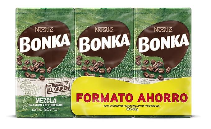 Bonka - Café Molido Mezcla -Pack de 3 x 250 g