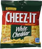 Kellogg's Cheez-It Crackers, White Cheddar, 1.5 Ounce (Pack of 60)