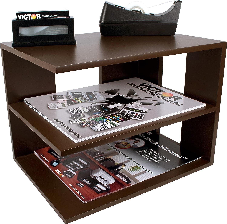 Victor Wood Corner Shelf, B1120 (Mocha Brown)