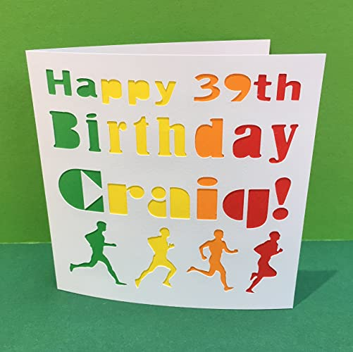 Personalised Birthday Card For A Runner