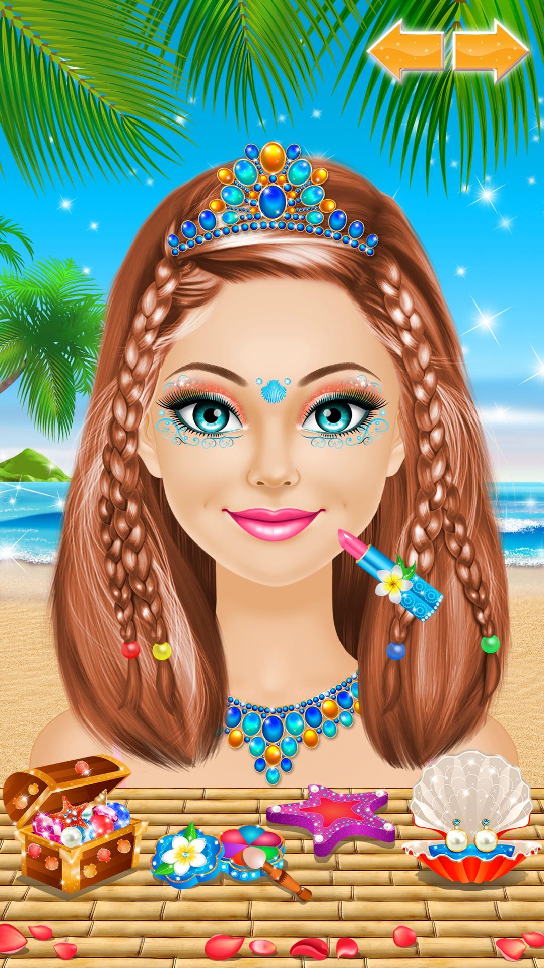 Princesa Tropical vestir & maquillaje juegos para niñas