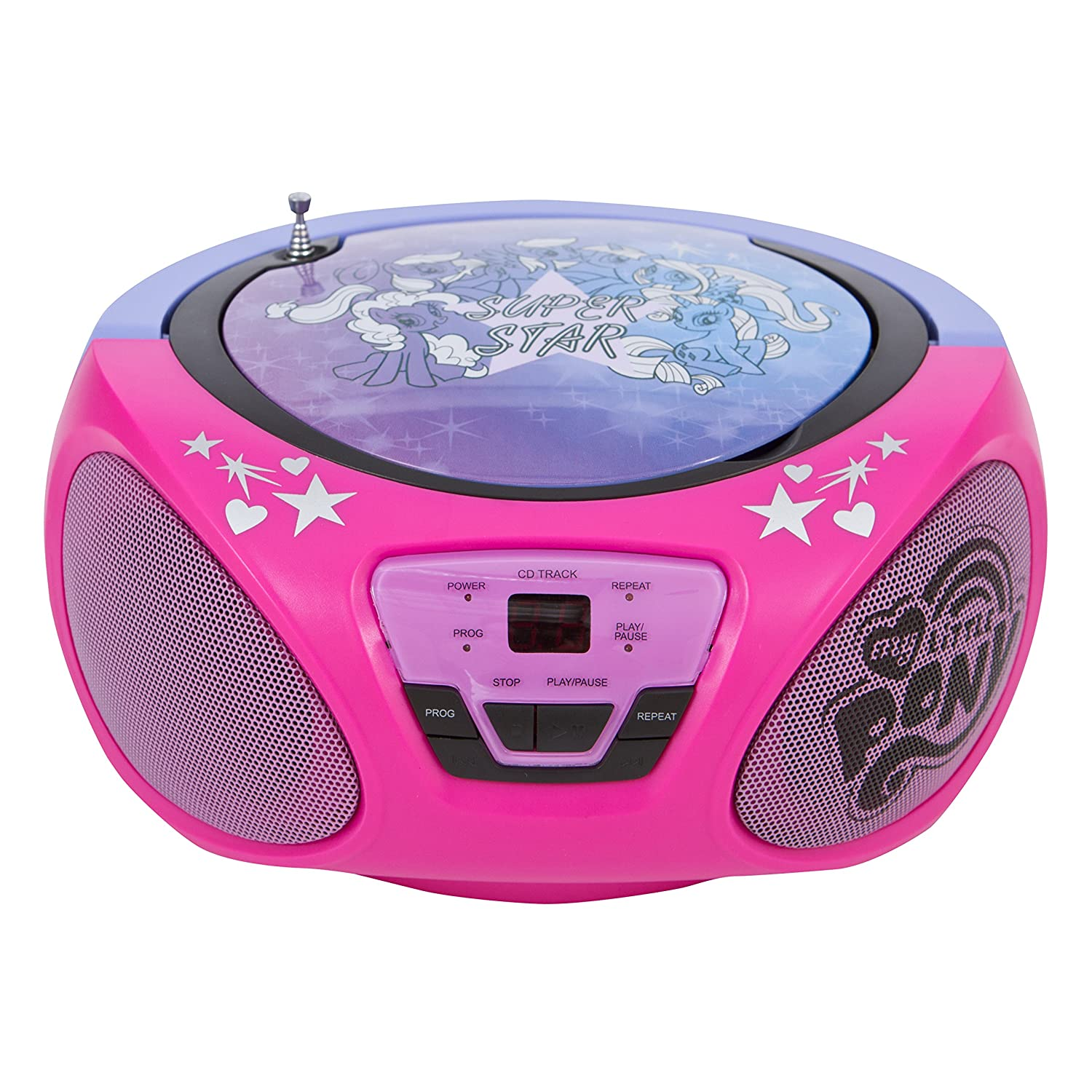 Small Cd Player For Bedroom Amazoncom My Little Pony Cd Boombox Player 56357 Pnk Home