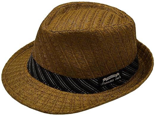 Panama Jack Mens Weaved Toyo Fedora with Striped Black Band c5871690a92