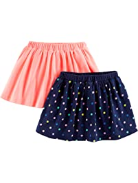 Simple Joys by Carter's baby-girls 2-Pack Knit Scooters (skirt with built-in shorts) Skirt