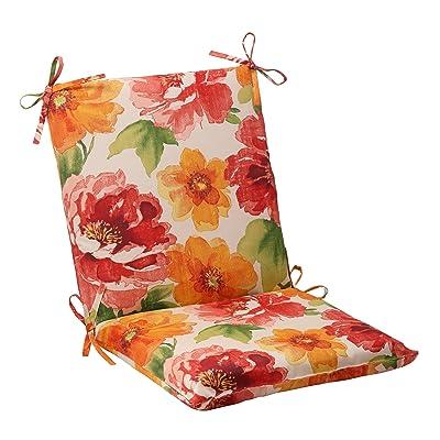 Pillow Perfect Outdoor Primro Squared Chair Cushion, Orange: Home & Kitchen