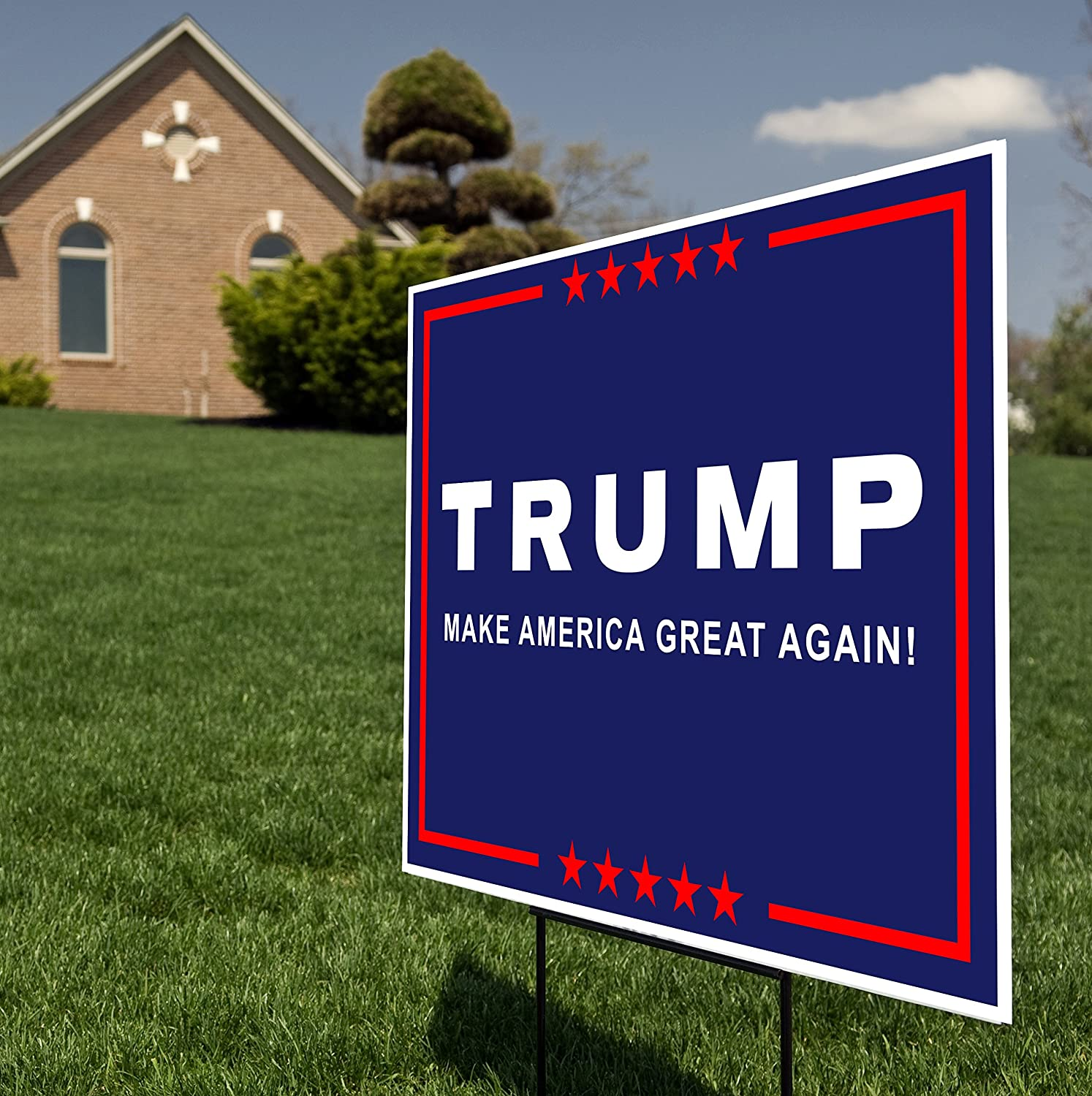 amazon com donald trump for president 2016 yard sign lawn signage rh amazon com Wiring-Diagram Flashing Sign Wiring-Diagram Flashing Sign