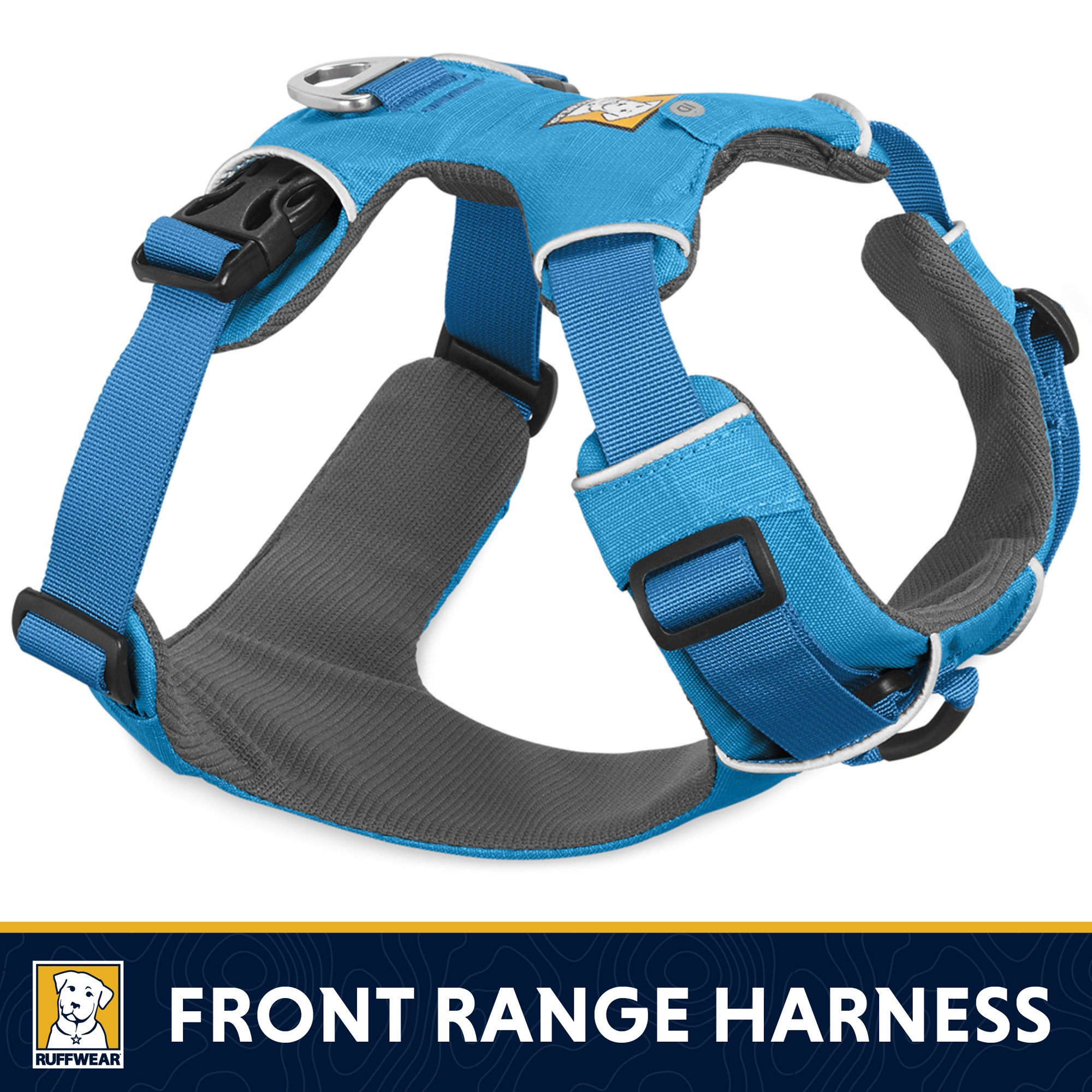 RUFFWEAR - Front Range No-Pull Dog Harness with Front Clip, Blue Dusk, Medium