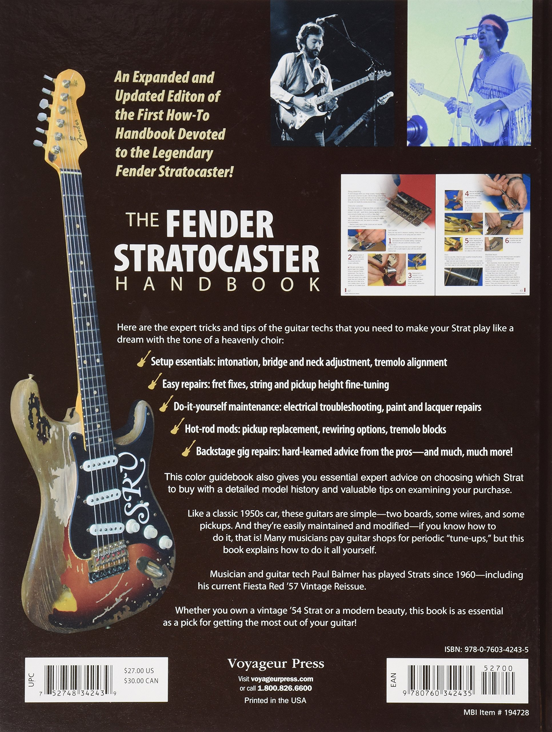 The Fender Stratocaster Handbook, 2nd Edition: How to Buy, Maintain, Set Up, Troubleshoot, and Modify Your Strat: Amazon.es: Paul Balmer, Hank Marvin: ...