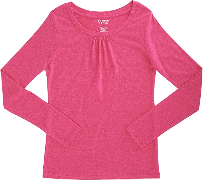 41d24ed2517 Image Unavailable. Image not available for. Colour  French Toast School  Uniform Girls Long Sleeve Crew Neck T-Shirt ...