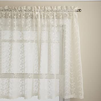 Curtains Ideas 36 inch tier curtains : Amazon.com: Lorraine Home Fashions Priscilla 60-inch x 36-inch ...