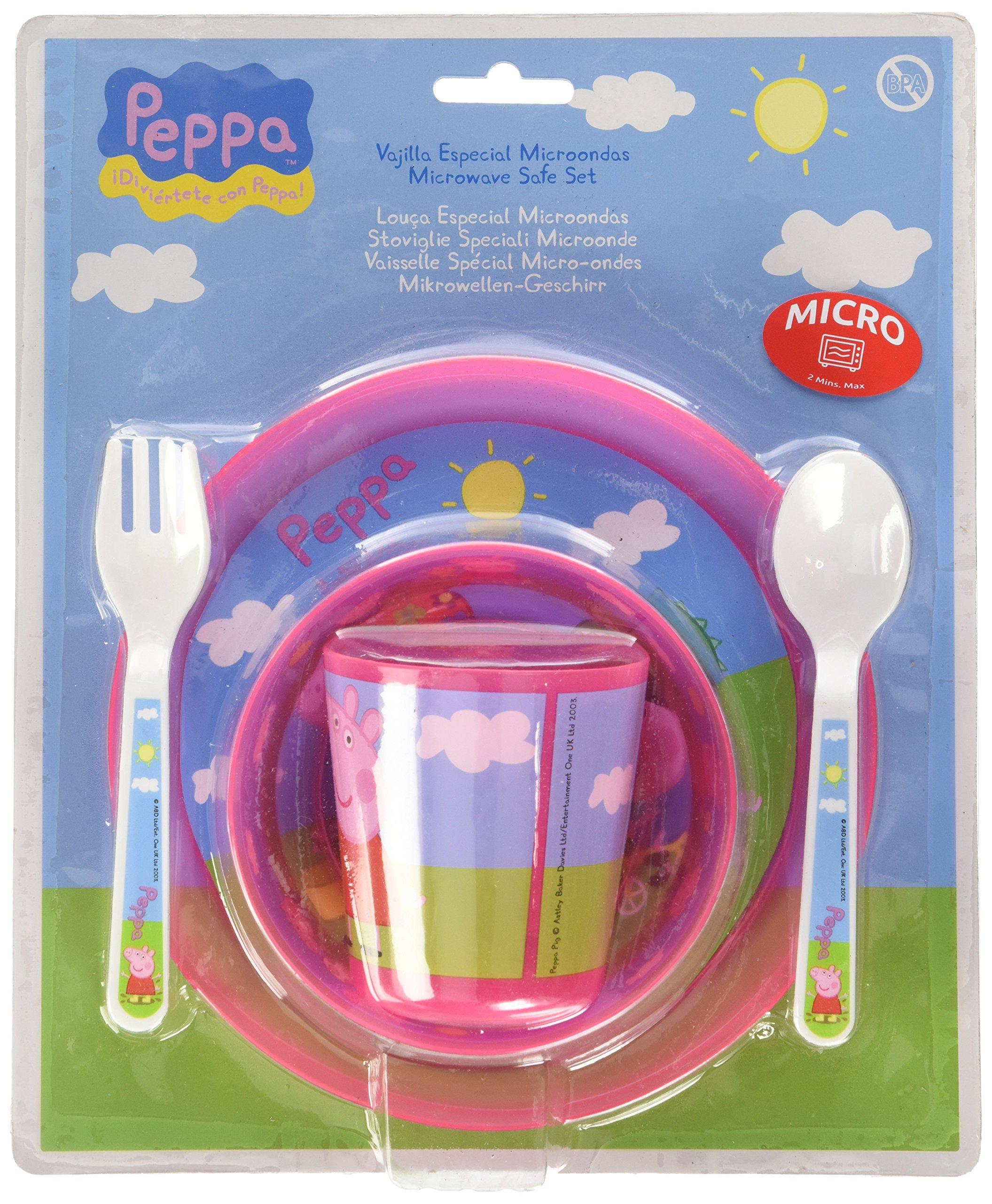 5 Piece Peppa Pig Microwaveable Set