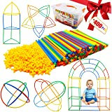 Kiddokids 400 Pcs Straw Constructor STEM Building Construction Toys for Kid Year Old Christmas Gift