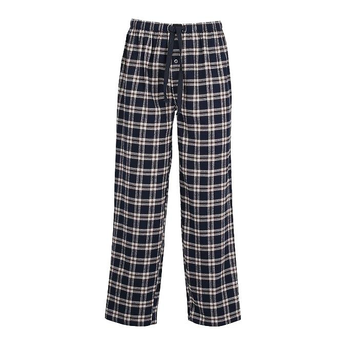 Götzburg - Pantalón de Pijama - Cuadros - para Hombre Blau-Dunkel-Karo 50
