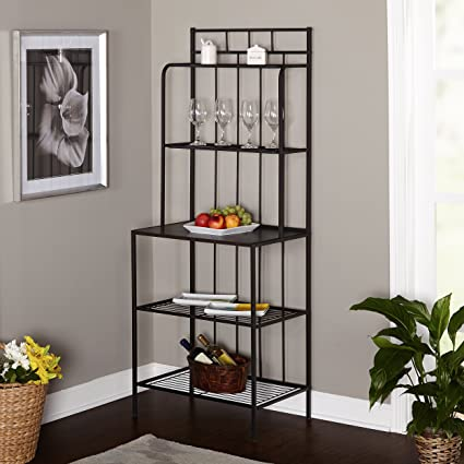 Metal Kitchen Bakers Rack   Indoor Bakers Rack, Black; The Perfect Pantry  Rack For