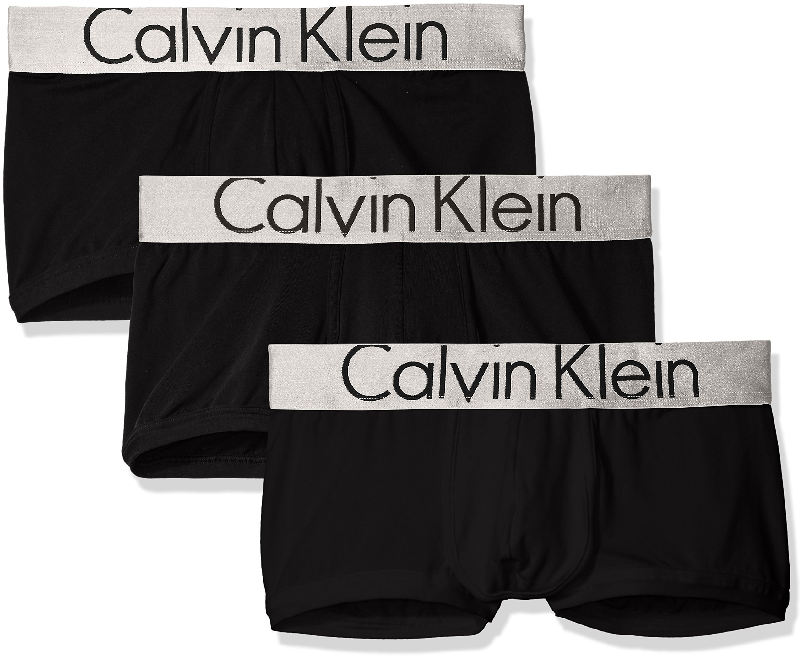 Calvin Klein Men's Steel Micro Low Rise Trunks, Black/Black/Black, M by Calvin Klein