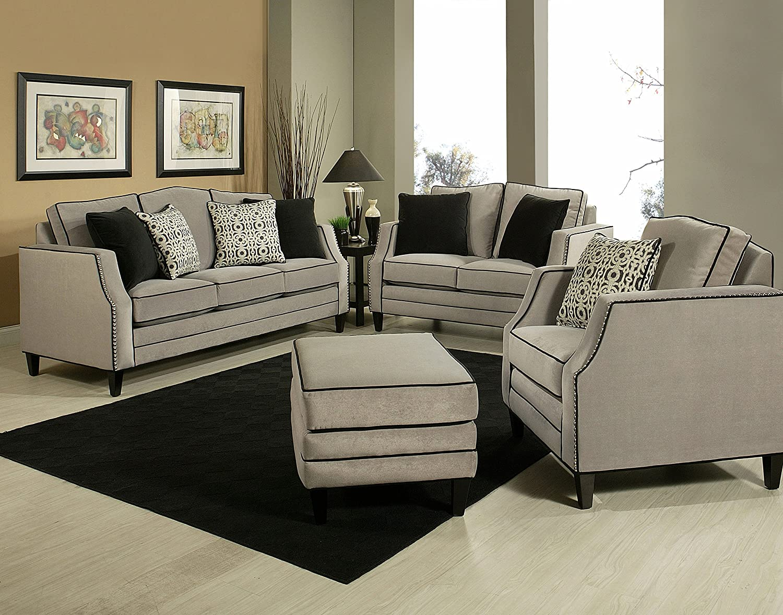 Amazon.com: F/S N Luxury Sofa and Love Seat, Living Room Set (Made