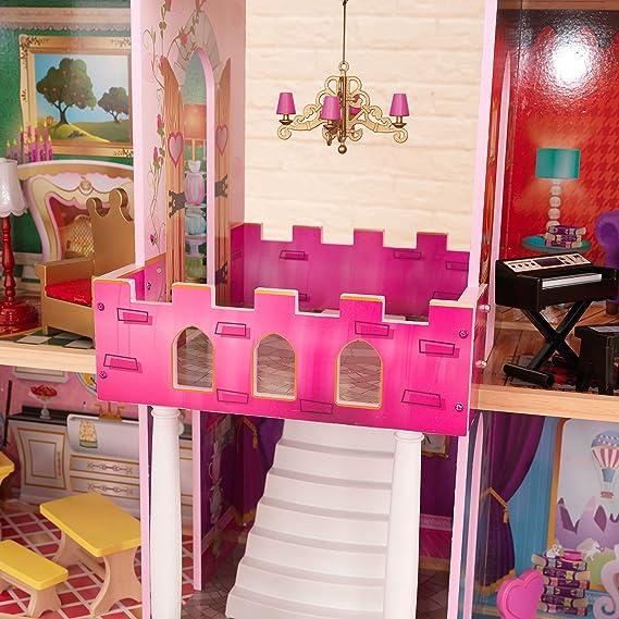 Amazon.es: KidKraft Once Upon a Time casa de muñecas + 23 piezas de muebles: Juguetes y juegos