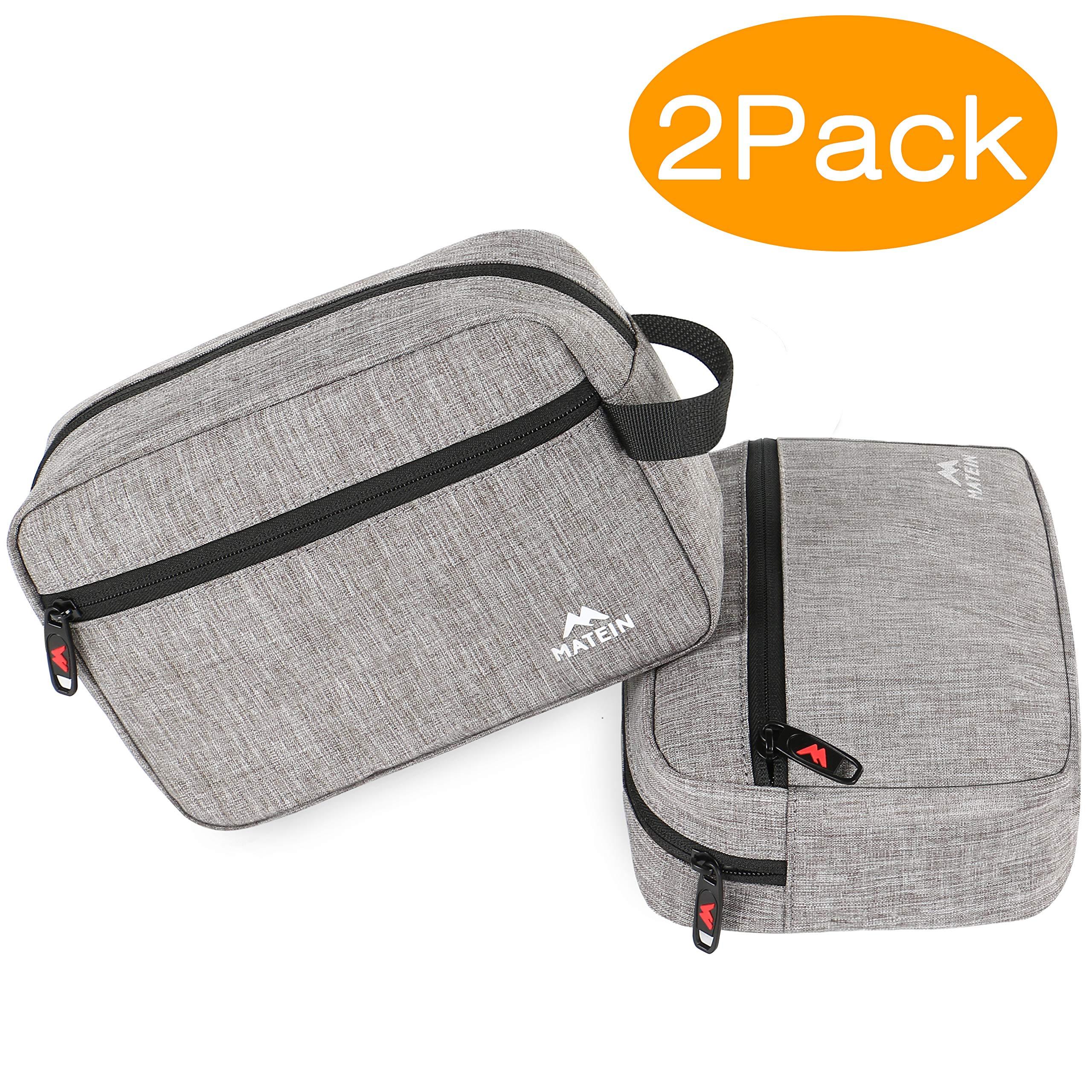 MATEIN Dopp Kit, (2 Packs) Travel Toiletry Bag Travel Kit Bag Canvas Shaving Bag, Toiletry Organizer for Men with TSA approved
