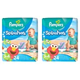Amazon Price History for:Pampers Splashers Disposable Swim Diapers, 24 Disposable pants each, size 3-4, 2 Pack
