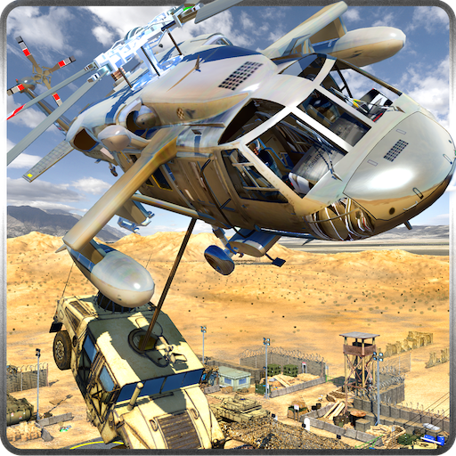 Military Cargo Helicopter Airport City Transport Tycoon Game: US Army Transporter Flight Simulator Games Free ()
