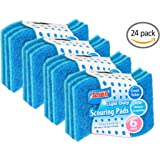"Scouring Pads ""S Shape"" -24 Pack- Heavy Duty Dish Washing Scour Scrubbers Shaped for More Comfortable Grip and Handling - Blue - by Scrub-It"