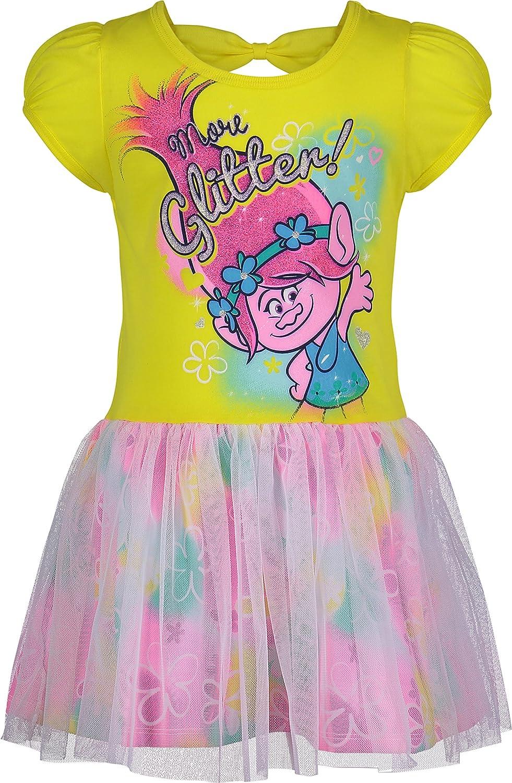 Yellow Poppy Trolls Toddler Girls Dress