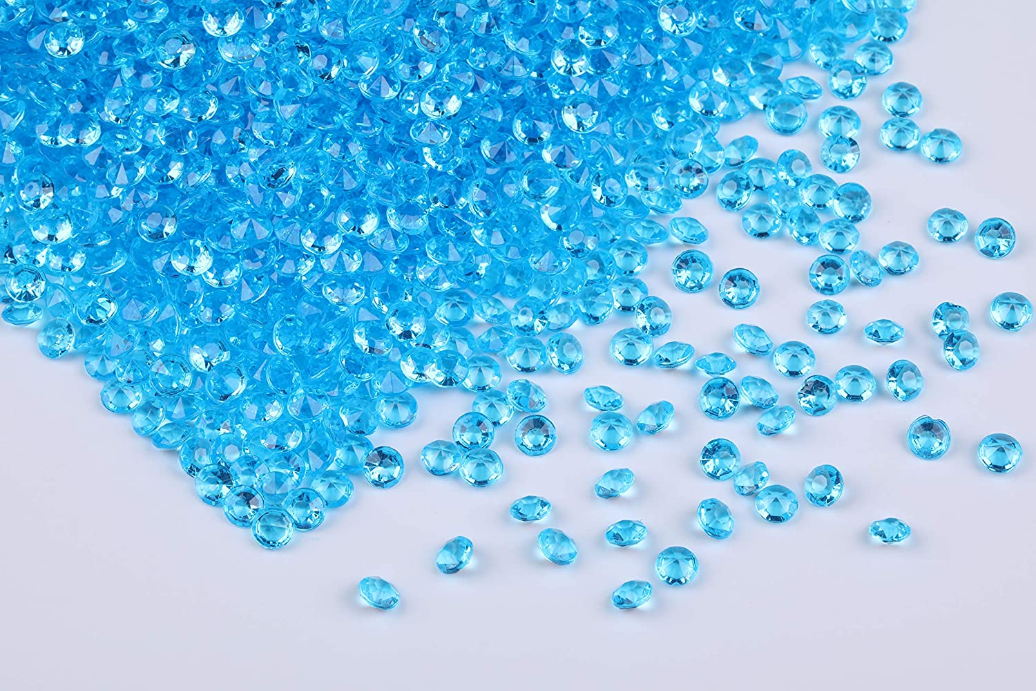 Gintoaria 10000 pcs/Pack Wedding Table Scatter Confetti Crystals Acrylic Diamonds Vase Fillers 4.5 mm Rhinestones for Wedding, Bridal Shower, Vase Beads Decorations (Lake Blue)