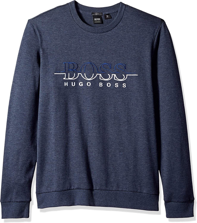 Hugo Boss Mens Salbo Long Sleeve Crewneck Sweatshirt
