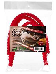 Silicone Oven Rack Shield Heat Resistant for Burn Protection, Pack of 3 RED