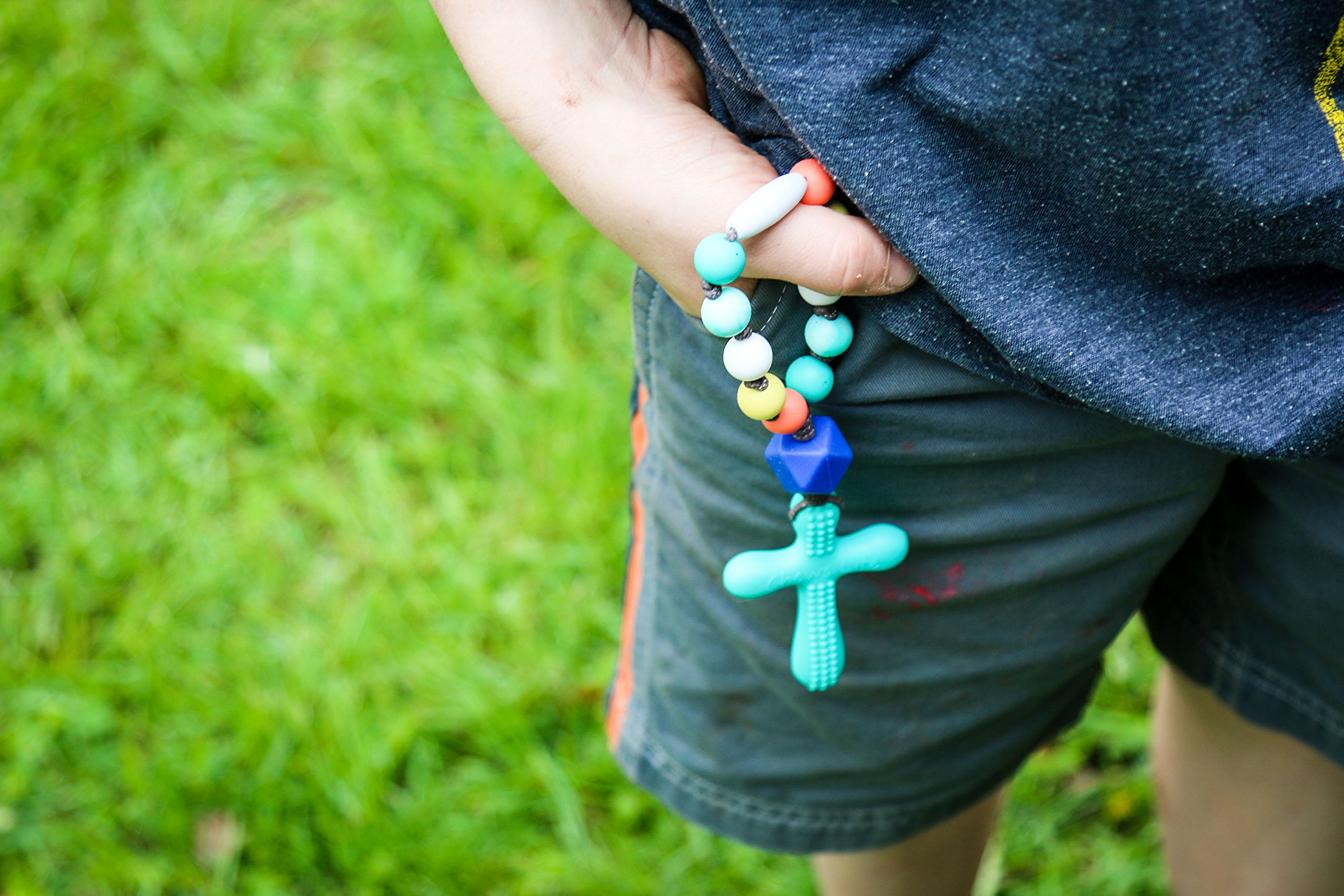 Chews Life Decade Rosary | Little One Decade RosarySilicone Teething Rosary | Boys' or Girls' Baptism or Mass Toy by Chews Life (Image #3)