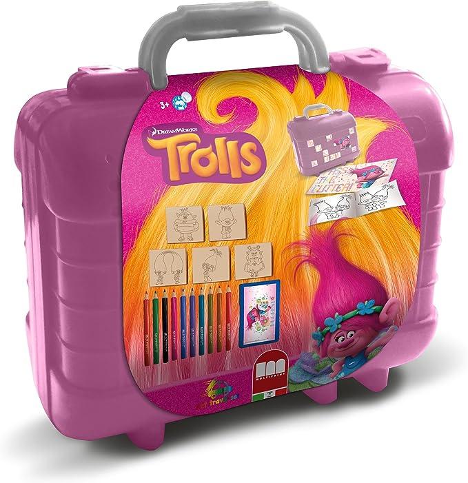 Multiprint Trolls - Juegos de Sellos para niños (Multicolor, Caucho, Madera, 3 año(s), Italia, 230 mm, 105 mm): Amazon.es: Juguetes y juegos
