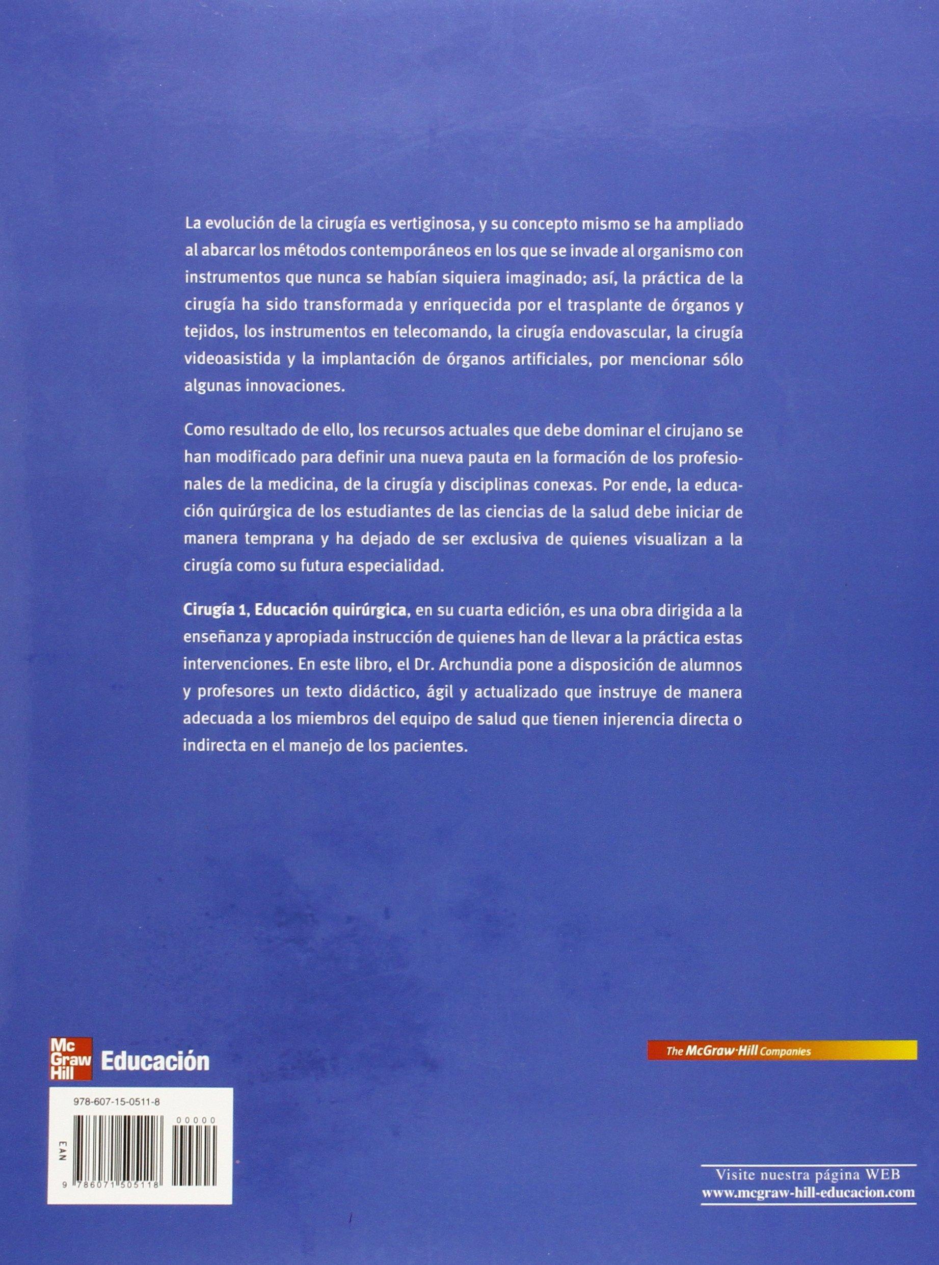 Cirugia 1 educacion quirurgica 4ed abel archundia garc a 9786071505118 amazon com books
