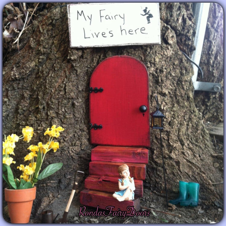 Amazon Fairy Door Fairy Garden Stocking Stuffer Red Garden