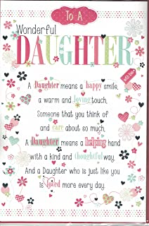 Daughter birthday card happy birthday to a very special daughter daughter birthday card to a very dear daughter happy birthday bookmarktalkfo Gallery