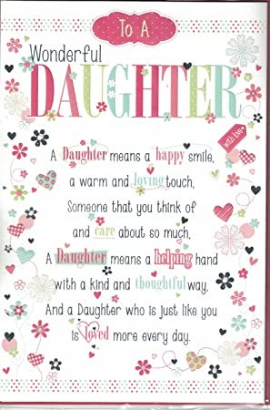 Daughter Birthday Card To A Very Dear Happy