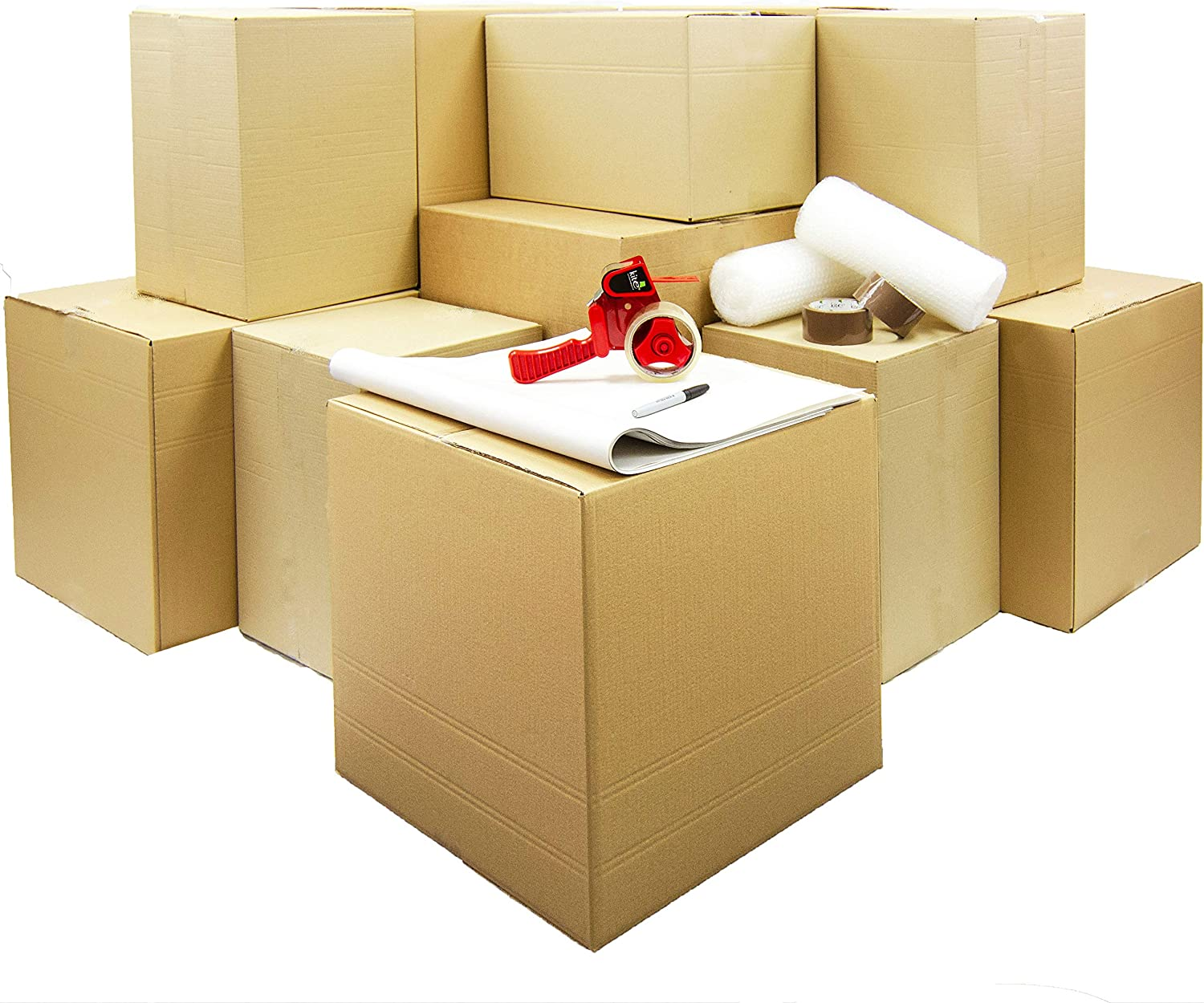 Moving Home Store Kit de mudanza de 1 a 2 dormitorios – 26 Cajas ...