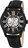 Stuhrling Original Men's 747.03 Atrium Automatic Watch with Black Leather Band