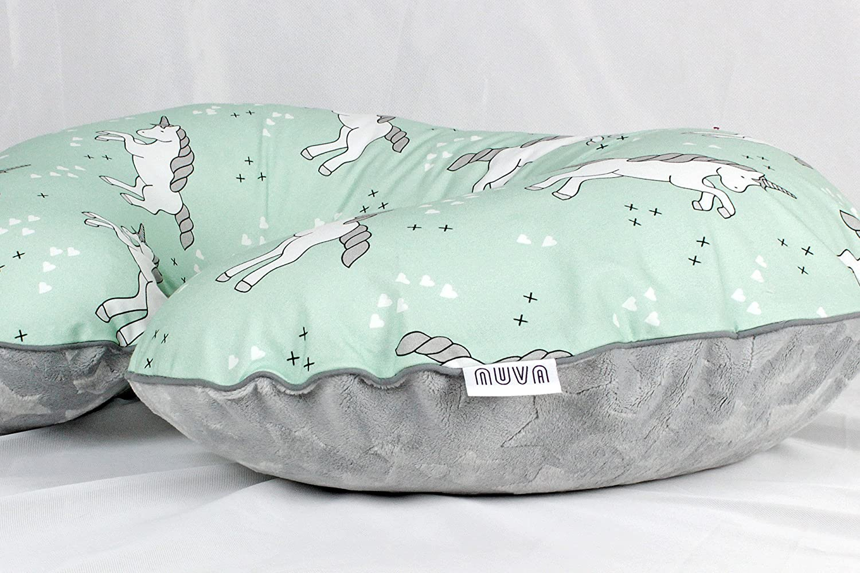Mint Unicorn Nursing Pillow Cover Handmade Cotton Minky Cover With Zipper