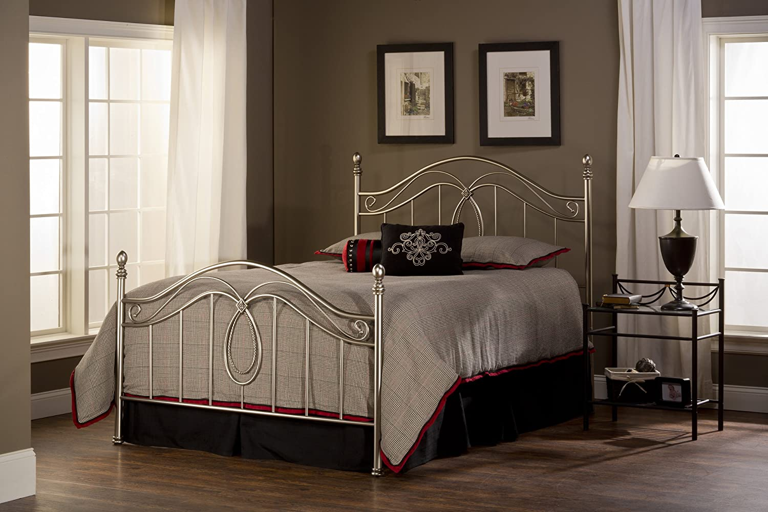 Amazon.com: Hillsdale Furniture 167BQR Milano Bed Set With Rails, Queen,  Antique Pewter: Kitchen U0026 Dining