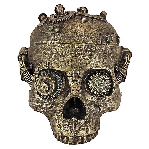 2 opinioni per Design Toscano CL6067 Vaso di Contenimento del Cranio di Steampunk, Bronzo