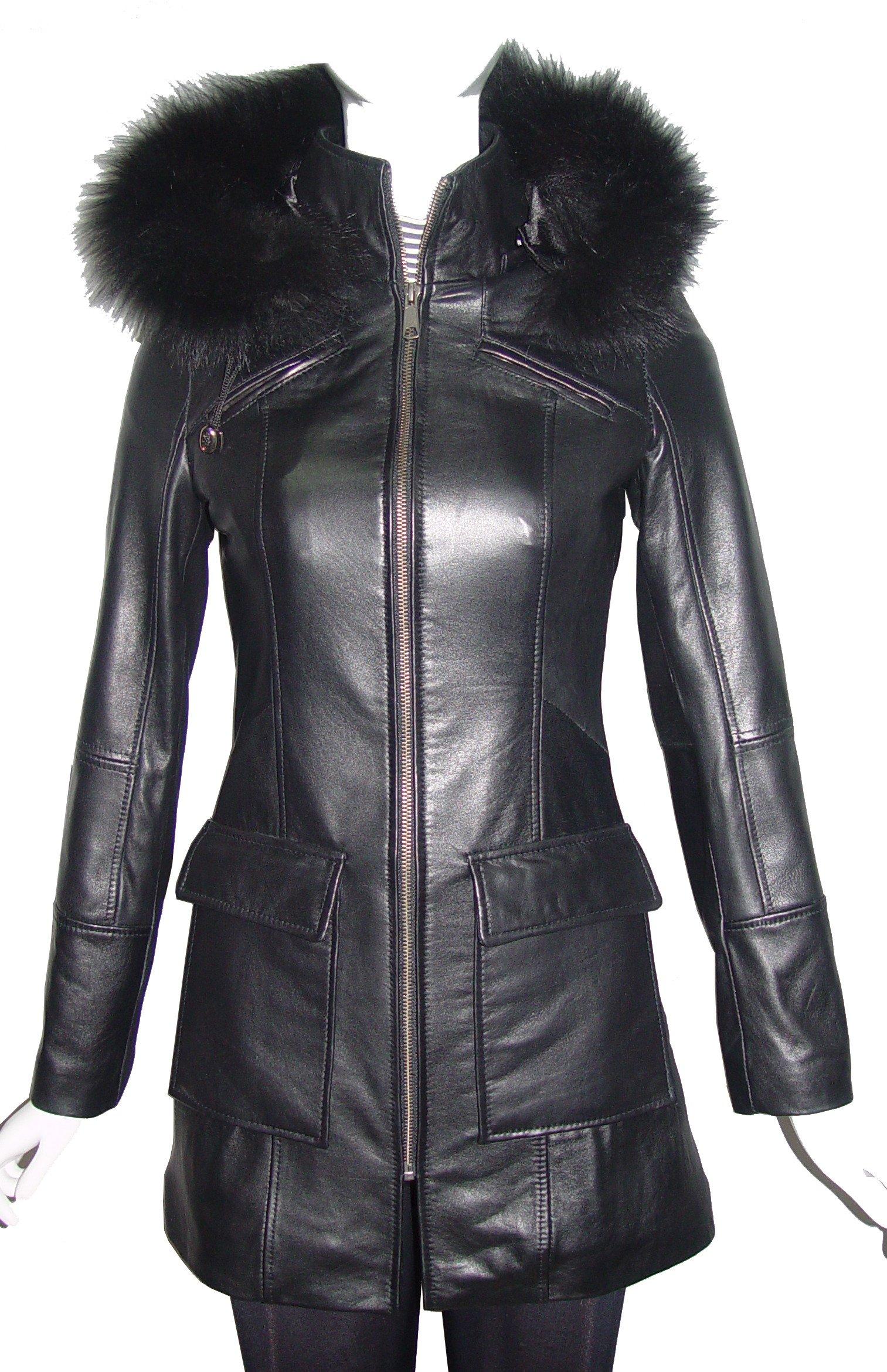 Paccilo 4 Season Wear Womens 4177 PETITE & ALL SIZELambskin Leather Parka Jacket