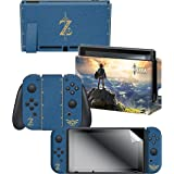 Controller Gear Nintendo Switch Skin & Screen Protector Set, Officially Licensed By Nintendo - The Legend of Zelda Breath of